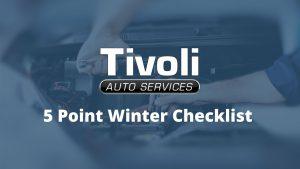 5 Point Winter Checklist