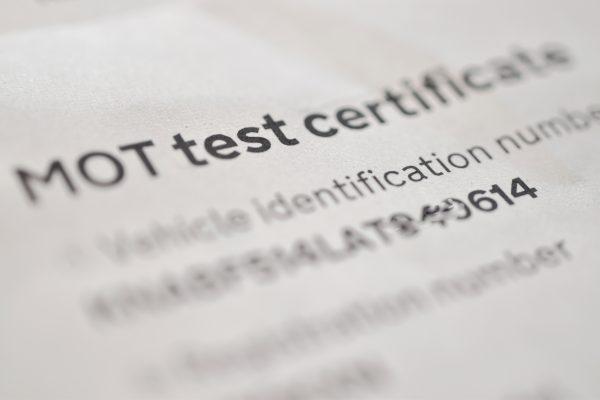 MOT Test Certificate